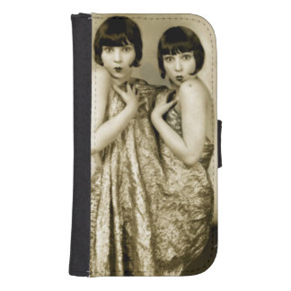 Vintage Women samsung galaxy4/4 Wallet Cases