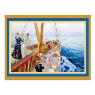 Vintage Women Yachting Postcard