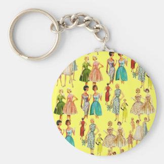 Vintage Women's Fashion Keychain