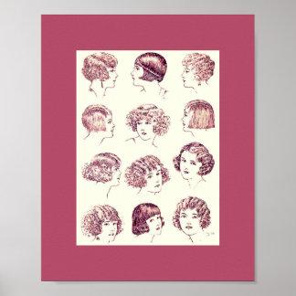 Vintage Women's Hair Styles 1924 Poster