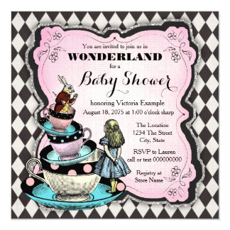 Vintage Wonderland Baby Shower Card