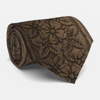 Vintage Wood Carving Tie
