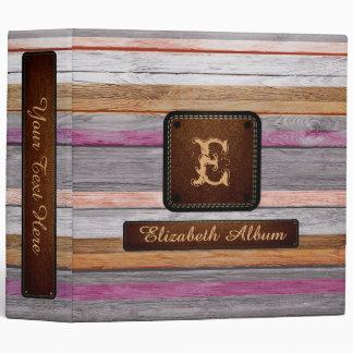 Vintage Wood Elegant Album Leather Look #3 Vinyl Binders
