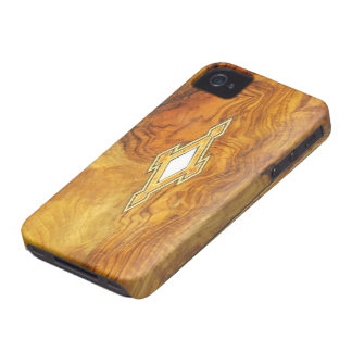 vintage wood style  i phone iPhone 4 Case-Mate case