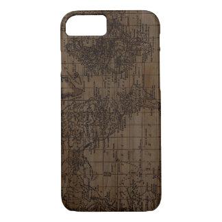 Vintage Wood World Map Phone Case