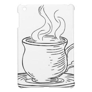 Vintage Woodcut Cup of Tea or Coffee iPad Mini Cases