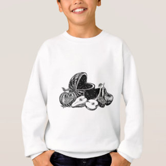 Vintage Woodcut Fruit Sweatshirt