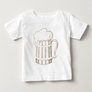 Vintage wooden beer glass baby T-Shirt
