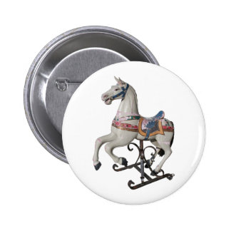 Vintage Wooden Horse - Carousel - Button