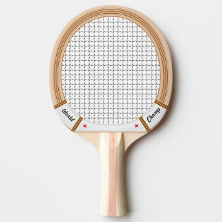Vintage Wooden Tennis Racket Ping-Pong Paddle