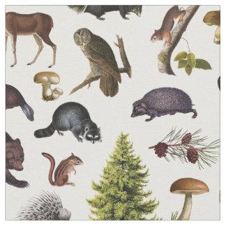 Vintage Woodland Animals Fabric
