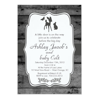 Vintage Woodland Bambi Baby Deer Baby Shower Card