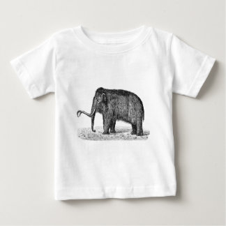 Vintage Woolly Mammoth Illustration Wooly Mammoths Baby T-Shirt