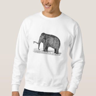 Vintage Woolly Mammoth Illustration Wooly Mammoths Sweatshirt