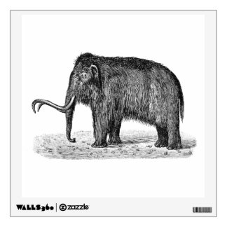 Vintage Woolly Mammoth Illustration Wooly Mammoths Wall Sticker