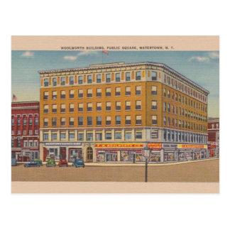 Vintage Woolworth Building Watertown NY Postcard