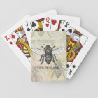Vintage Worker Bee Illustration Art Print Honey Playing Cards