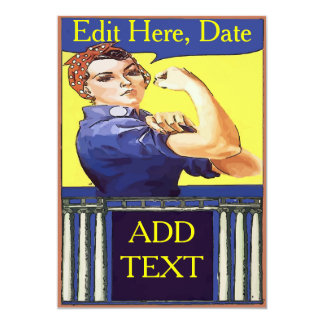 "Vintage Working Woman Card 5"" X 7"" Invitation Card"