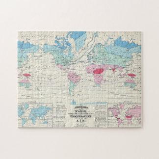 Old world map jigsaw puzzles zazzle vintage world climate map 1870 jigsaw puzzle gumiabroncs Image collections