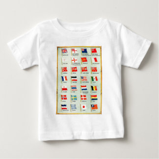 Vintage World Flags Baby T-Shirt