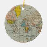 Vintage World Map 1910 Christmas Ornaments