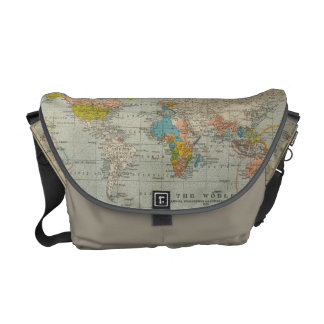 Vintage World Map 1910 Commuter Bags