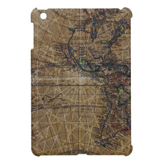 Vintage World Map Abstract Design iPad Mini Cover