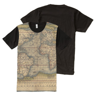 Vintage World Map All-Over-Print T-Shirt
