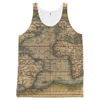 Vintage World Map All-Over-Print Tank Top