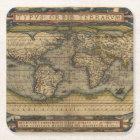 Vintage World Map Antique Atlas Square Paper Coaster