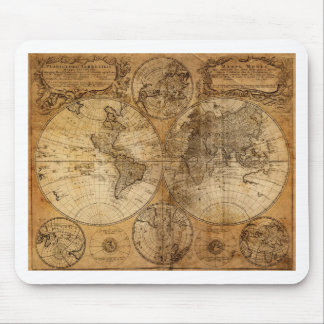 Vintage World Map Atlas Mouse Pad