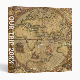 Vintage World Map Binder