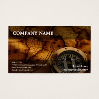 Vintage World Map Business Card