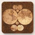 Vintage World Map Cork Coasters