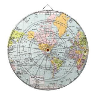 Vintage World Map Dartboard