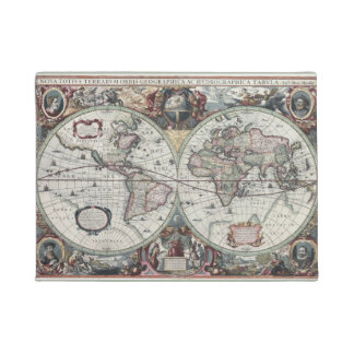 Vintage World Map Doormat