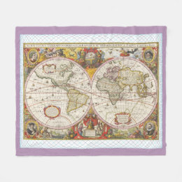 Personalized old world map blankets throws zazzle ca vintage world map fleece blanket gumiabroncs Gallery