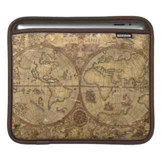 Vintage World Map iPad Sleeve