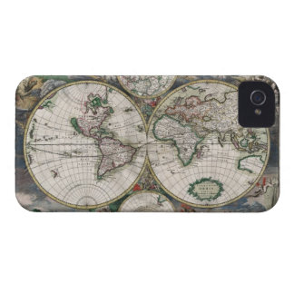 Vintage World Map iPhone 4 Case