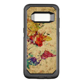 Vintage world map OtterBox commuter samsung galaxy s8 case