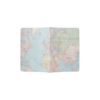 Vintage World Map Passport Holder