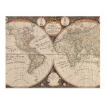 Vintage World Map Postcards