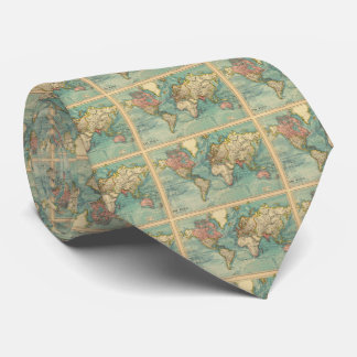 Vintage World Map Tie