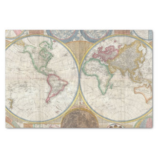 Vintage World Map Tissue Paper
