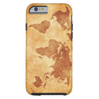 Vintage World Map Tough Iphone 6 Case