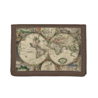 Vintage World Map Wallet