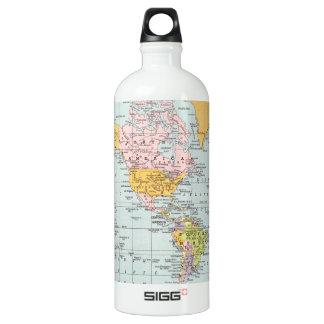 Vintage World Map Water Bottle