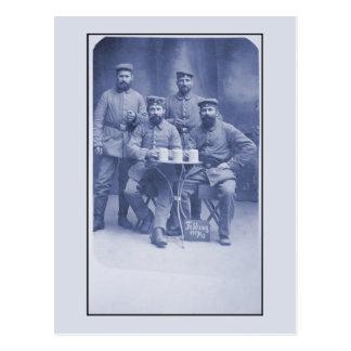 Vintage World War 1 photo German soldiers Postcard