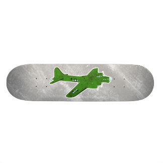 Vintage World War 2 Bomber Military Aircraft Custom Skateboard