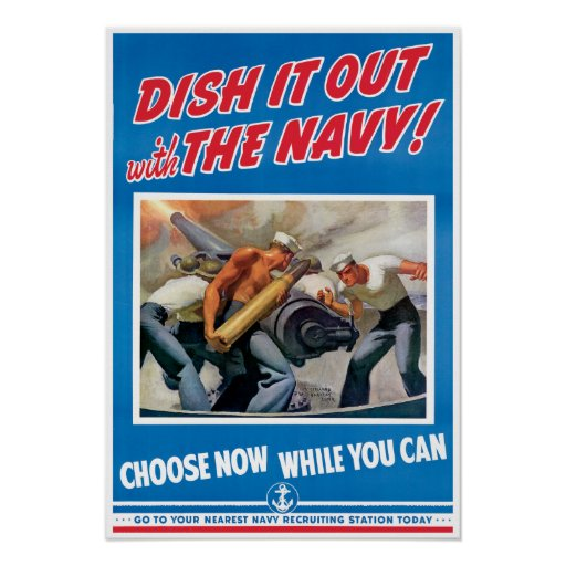 Vintage World War 2 Navy Poster